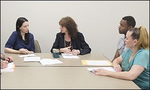 Photo of a PPT meeting
