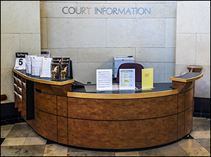 Picture of court information desk